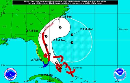 Hurricane Matthew map